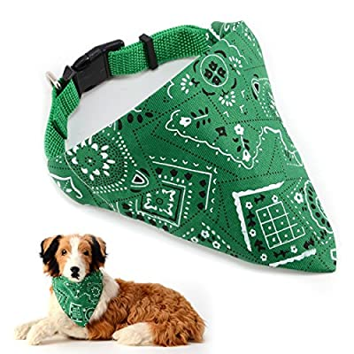 Adjustable Bandanas Collars Triangle Scarf Scarves Neckerchief for Dogs Puppy Doggie Cat Neckerchief Tag from Surepromise