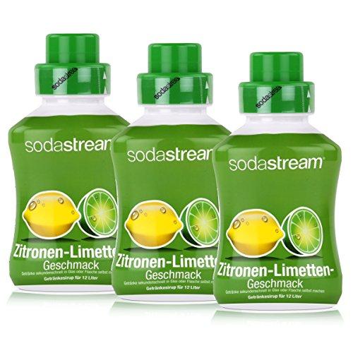 SodaStream Getränke-Sirup Softdrink Zitronen-Limetten Geschmack 500ml (3er Pack)
