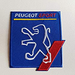 BLUE HAWAI ECUSSON Patches AUFNAHER Toppa THERMOCOLLANT - Peugeot Sport 8,5 * 10 CM