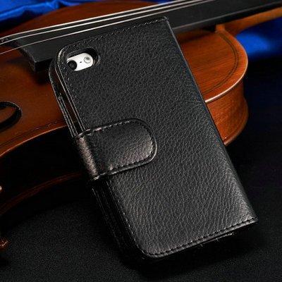 achievess (TM) avec fente pour carte 7en cuir style livre pour iPhone 5/5S Téléphone portable Coque arrière de luxe à rabat style
