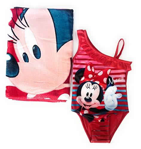 Bañador Minnie Mouse + Toalla Minnie Mouse Disney Algodón Rojo, 5 años