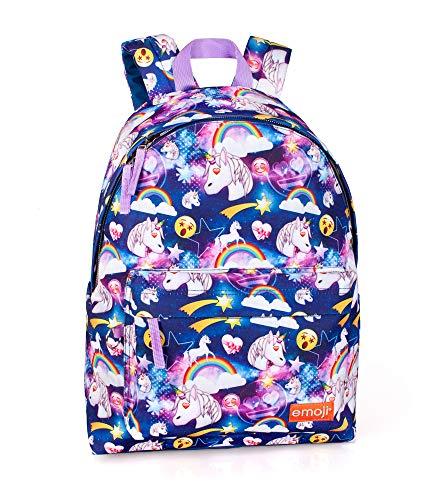 Emoji Unicorno 30871 Zaino, 40 Centimetri, 24L, Multicolore