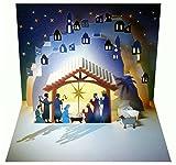 We Pop Up 3d tarjeta de Navidad Tarjeta de felicitación Belén Maria José Establo 16x 11cm