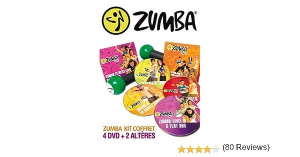 ZUMBA Coffret 4 DVD + 2 Haltères - Version Française  Amazon.fr  DVD    Blu-ray 40ce3d2bf4e