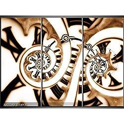 Lienzo de 3 piezas de Reloj Fractal. 111x 80lwb527