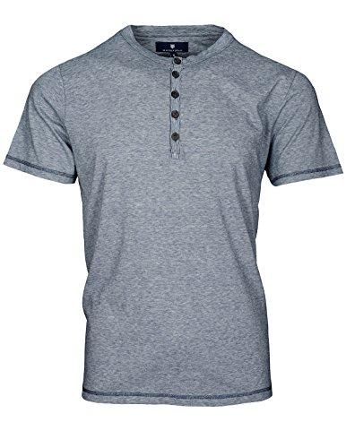 Basefield Herren Henley Shirt 1/2 - indigo (219010973) 623 INDIGO