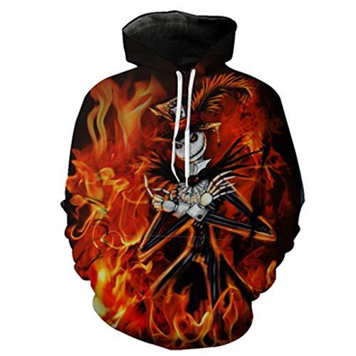 Halloween Harajuku 3D Print Die Nacht vor Weihnachten Jack Skellington Skull Sweatshirts D 6XL