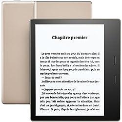 """Kindle Oasis - Résistant à l'eau, Écran haute résolution 7"""" (300 ppp), avec boutons de changement de page, 32 Go Wi-Fi"""