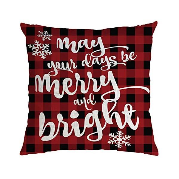 IJKLMNOP Christmas Pillow Square Pillow Case Lino Mat 45x45cm es Adecuado para oficinas, Casas, automóviles, cafeterías… 12