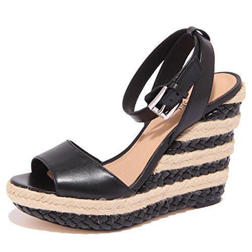 MICHAEL KORS donna sandali con zeppa 40S6KLHA1L KYLA WEDGE 38.5 Nero