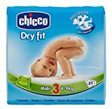 Chicco Couches Jetables Dry Fit Taille 3 Midi 4-9 kg 9-9 kg - Pack de 42 couches