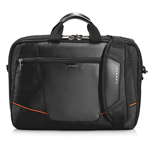 Everki Flight Briefcase – Laptoptasche für Notebooks bis 16 Zoll (40,6 cm) mit Akten- und Zubehör-Fach, Trolley-Lasche und weiteren hochwertigen Funktionen, Schwarz (Case Klein Flight)
