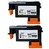 Hrph Neuer 940 Druckkopf Schwarz / Gelb C4900A + Cyan / Magenta C4901A für HP 8000 8500