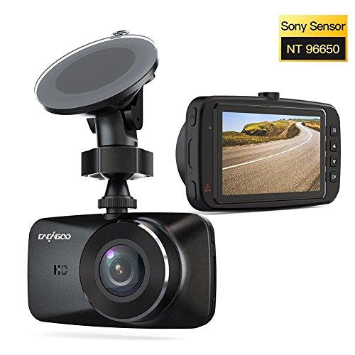 CACAGOO Full HD 1080p Dashcam, Auto DVR Kamera mit 150° Weitwinkelobjektiv,  2.7 Zoll LCD Bildschirm, SONY IMX 323 Sensor, Bewegungserkennung, Loop Recording, Parking Monitor und Nachtsicht