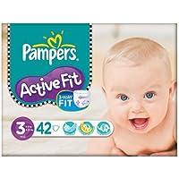 Pampers active Fit Taille 3 (4-9 kg) Essential Pack Midi 2x42 par paquet