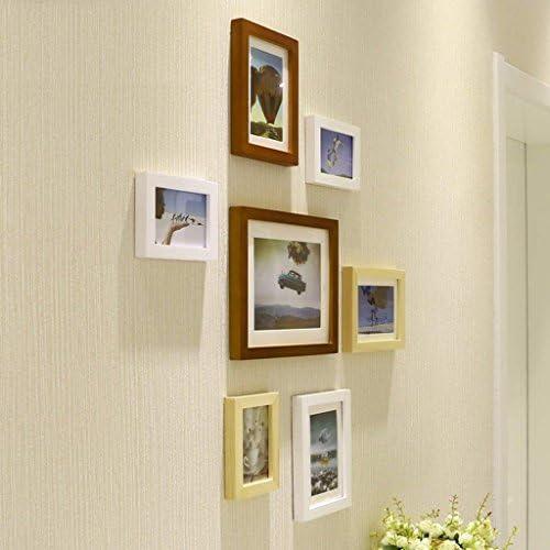 Semplicità moderna in legno massiccio Carta da 7 Box Small Small Box parete del soggiorno Carta da parete creativo combinazione telaio a mano lucido legno solido materiale piacevole e generoso muretto Of Choice ( Coloreee   A ) d33992