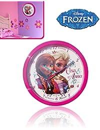 Reloj pared motivo ELSA Y ANA DE FROZEN 24 cm / Perfecto regalo - DISNEY WD92071