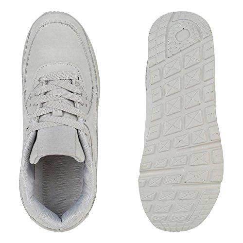 Damen Herren Unisex Laufschuhe Profil Sohle Sportschuhe Fitness Schuhe Hellgrau Avelar