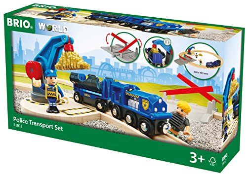 BRIO World 33812 - Polizei Goldtransport-Set