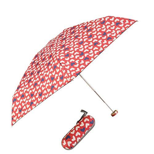 Sixcup 50% manuelle Offenen Schwarzen Kunststoff-Regenschirm Ultra Light Box Bag Regenschirm Mode Sonnencreme Schattierung Kleinen Schwarzen Regenschirm (B)