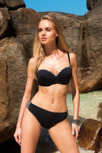 Antie Damen Bikini Slip 91D2R1 Schwarz