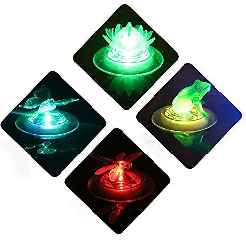 OOFAY& Draussen Solar Teich Lichter LED Gartenleuchten Wasserdicht 7 Farbe Veränderung Schwimmbad Dekoration Stimmungslichter 2 Stück HSD065,Dragonfly -