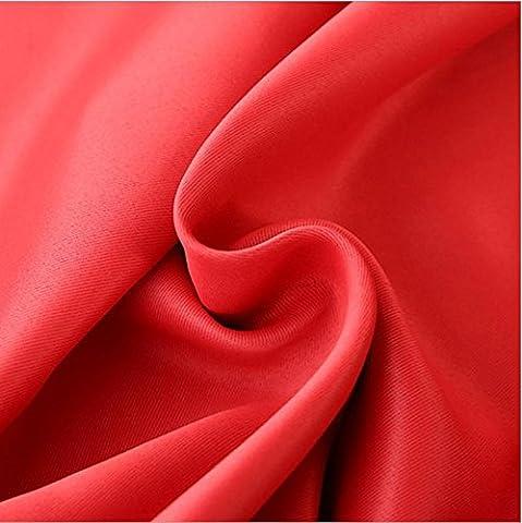 Vorhänge Verdunkelnd Polyester Verdickte Schlafzimmer Wohnzimmer Fenster Wärmedämmung UV schwarz rot, (Einzel Rod Fenster Set)