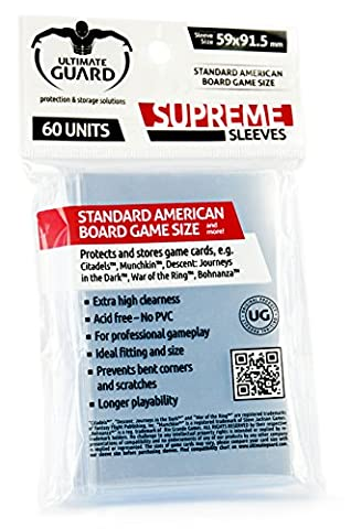 Ultimate Guard Supreme Sleeves For Board Game Cards Standard American (60) Ultimate Guard