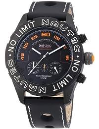 Nautec No Limit Herren-Armbanduhr XL Dakkar Chronograph Quarz Leder DK QZ/LTIPBK