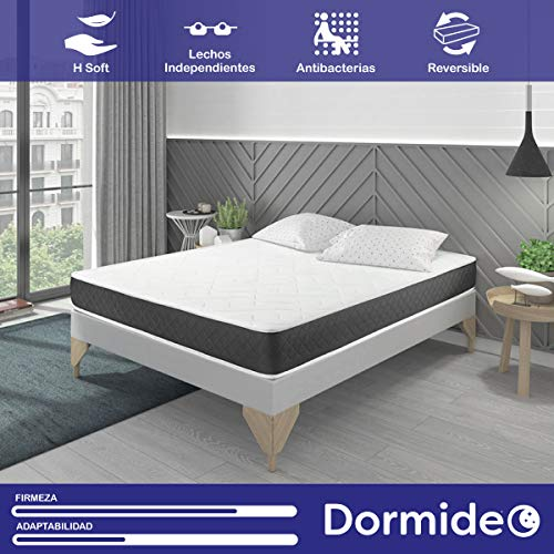 DORMIDEO Visco Basic - Colchón Viscoelástico, Higiénico y Transpirable 135x190