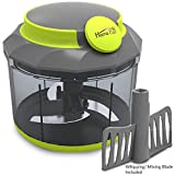 #4: Home Puff - Stainless Steel 3 Blade System + Whipping Blade, Vegetable Cutter, Chopper, Blender, Whipper (1000 ML)