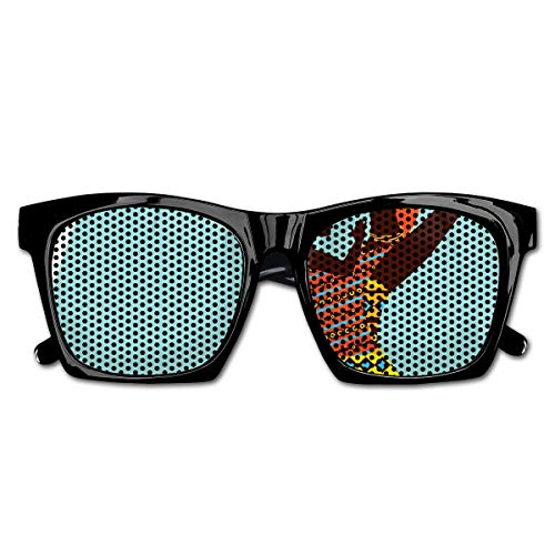Mesh Sunglasses Sports Polarized, African Mother with Her Baby In Ethnic Clothes Retro Style Fashion Image,Fun Props Party Favors Gift Unisex