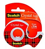 Scotch Crystal Rouleau de ruban 19 mm x 15 m Transparent