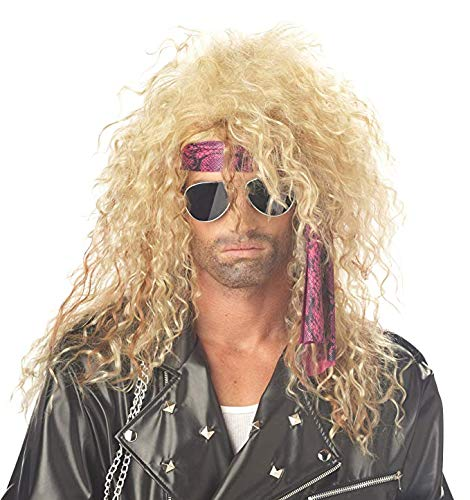 80s Hair Band Spiral Perm Wig for Men