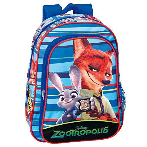 Disney 37cm Zootropolis Badge Rucksack (Blau)