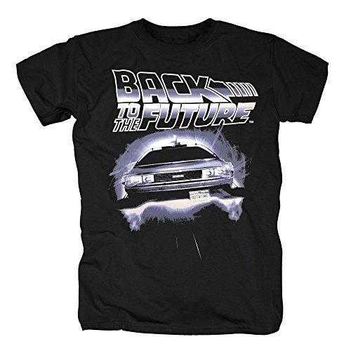 TSP Zurück in die Zukunft - Flying Delorean T-Shirt Herren XL Schwarz