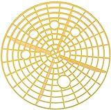 FENG Autofilter,Autowasch-Einsatz für Putzeimer, Abstreifgitter, Filter für Wassereimer, gegen Kratzer,23cm (Gelb)