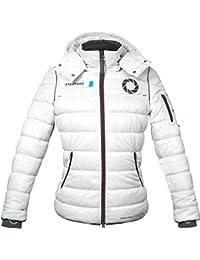0b18346cc0e35 Musterbrand Portal Jacket Women Scientist Winter Water Repellent White