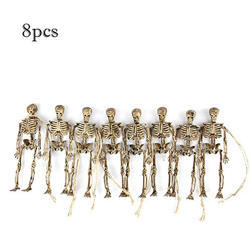 Bulary 8 STÜCKE Halloween Skeleton Anhänger Requisiten Dekoration Bar Raum Spukhaus Requisiten Halloween Handwerk Ornamente