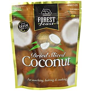 FOREST FEAST Premium Fruit Doypack Dried Sliced Coconut 100 g (Pack of 4)