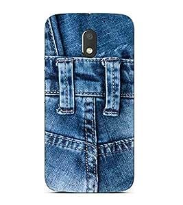 For Motorola Moto E3 :: Motorola Moto E 3rd gen :: Motorola Moto E 3rd Gen blue jeans case ( blue jeans , denim jeans, jeans texture, jeans torn denim, denim texture ) Printed Designer Back Case Cover By Living Fill