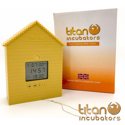 Automatic Chicken House Door Opener / Closer By Titan Incubators Opens / Closes Chicken Coop Door On Timer Unit Test