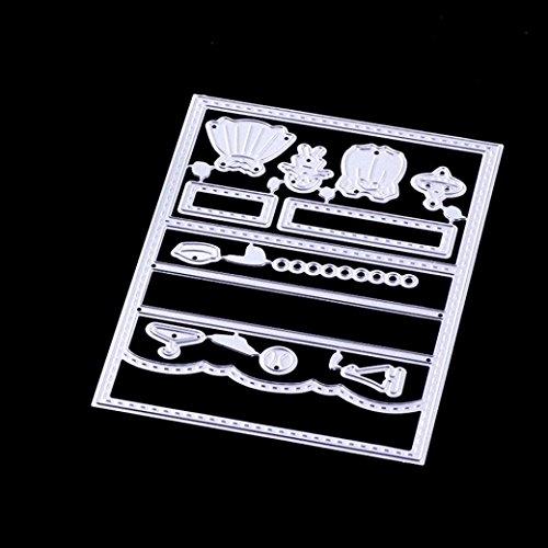 FNKDOR Stanzschablone Scrapbooking, Prägemaschine Prägeschablonen Schablonen Stanzformen, Zubehör für Sizzix Big Shot und Andere Stanzmaschine (F)