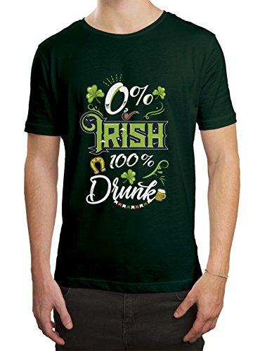 St. Patrick's Day #5 Premium T-Shirt | Irland | Pub | Kleeblatt-Grün | Herren | Shirt, Farbe:Dunkelgrün (Bottle Green L190);Größe:5XL (T-shirt Irland-grünes)