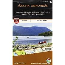 Outdoorkartan Schweden 05 Jäkkvik - Ammamaes 1 : 75 000: amtliche Karte