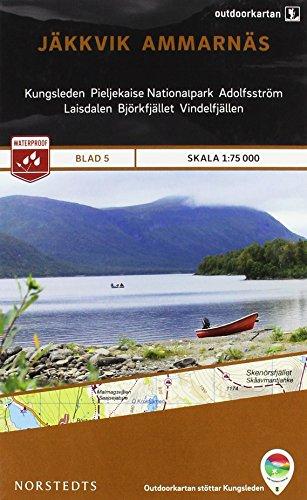 Jakkvik / Ammarnas 5 Outdoor Fjall 2015 (Outdoorkartan) por Norstedts kartor