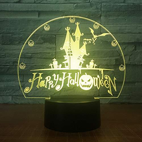 arben Usb Visuelle Schloss Fledermäuse Nachtlicht Schreibtischlampe 3D Led Wohnkultur Urlaub Dekor Leuchten Kinder Geschenke ()