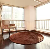 XNNSH 32 Pollici di Lusso Area Rotonda tappeti Super Soft Soggiorno Camera da Letto Tappeto Donna Yoga Mat,Chrome,M