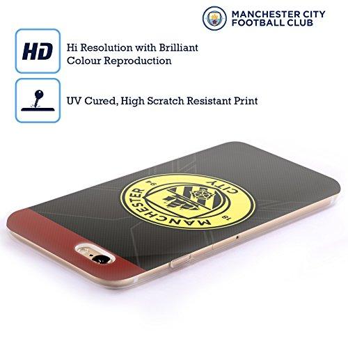 Offizielle Manchester City Man City FC Home Abzeichen Kit 2016/17 Soft Gel Hülle für Apple iPhone 6 / 6s Away