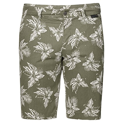 Jack Wolfskin Mens Drake Tropical Shorts Khaki All Over